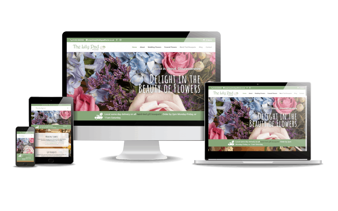 The Lily Pad Florist Website Design